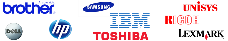 Printers, Cartridges & Laptops by:  Brother, Dell, HP, Samsung, IBM, Toshiba, Unisys, Ricoh, Lexmark